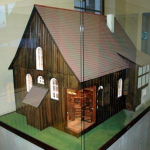 Modell der Scheunen-Synagoge