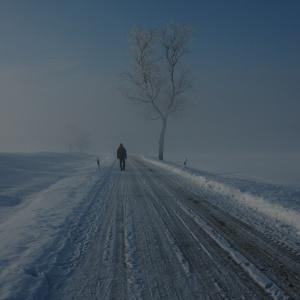 Pfarrer im Winter